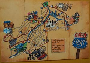 Cartel ruta friki Andorra