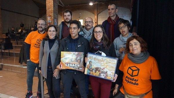 Participantes concurso creación juegos de mesa Jornadas Ayudar Jugando