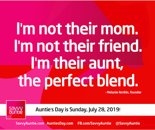 I'm not their mom, I'm not their friend, I'm their aunt, the perfect blend